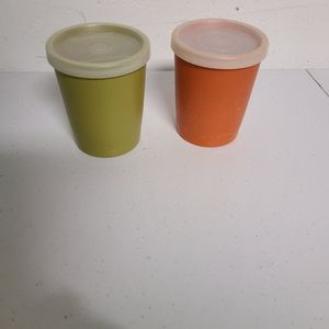 Vintage tupperware cups